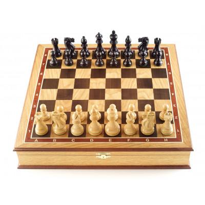 Шахматы ларец Гамбит дуб большие