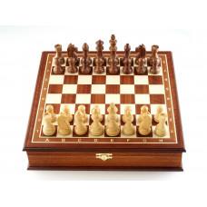 Шахматы ларец Дебют махагон средние