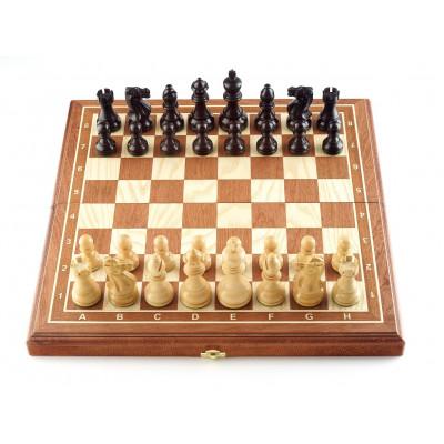 Шахматы Гамбит махагон средние