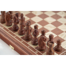 Шахматы Дебют махагон малые