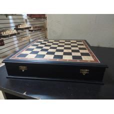 Шахматная доска ларец без фигур моренный дуб 40 см