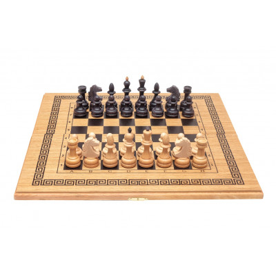 Шахматы-нарды-шашки классика средние подарочные