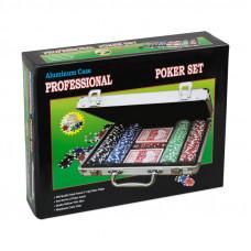 Набор для покера Leather Black на 200 фишек
