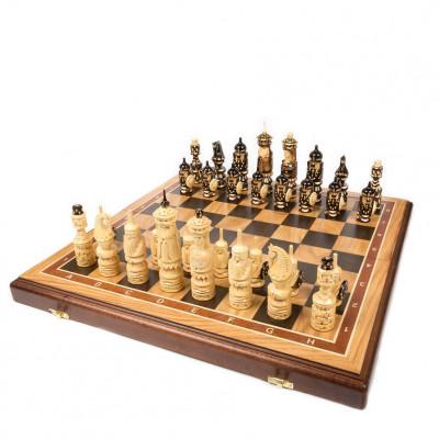 Шахматы резные Люкс дуб