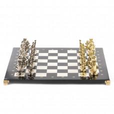 """Шахматы """"Римские воины"""" доска 450х450 мм мрамор змеевик металл"""
