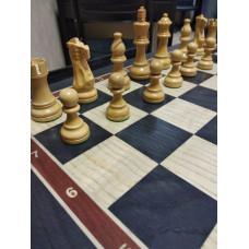 Шахматный стол из мореного дуба (без фигур)
