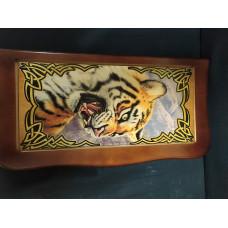 Нарды резные с рисунком Тигр
