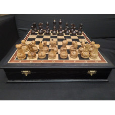 Шахматы карельская береза/моренный дуб