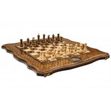 Шахматы + нарды резные Герб РФ 50, Haleyan