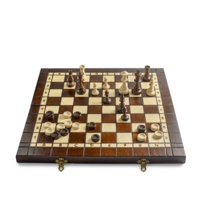 Шахматы, нарды, шашки Путешествие большие Мадон