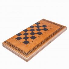 Шахматы нарды шашки Классика дуб