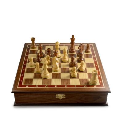 Шахматный ларец Дебют орех средний