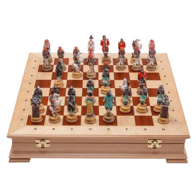 Шахматы Самураи Стаунтон Береза 4
