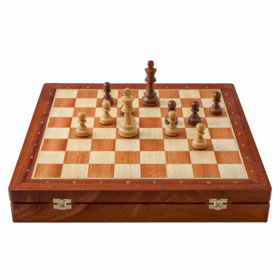 Шахматы ларец Классические Махагон