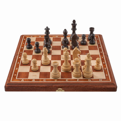 Шахматы Дебют Люкс махагон малые
