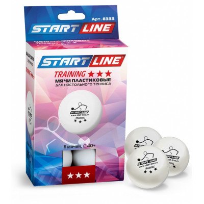 Комплект шаров TRAINING 3*, 6 мячей в упаковке
