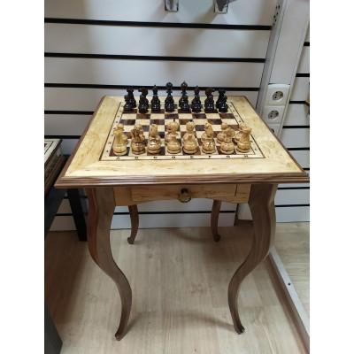 Шахматный Стол из Карельской березы Люкс