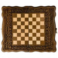 Шахматы + нарды резные Бриз 30, Haleyan