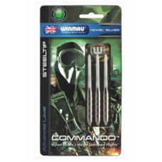 Дротики Winmau Nickel Silver Commando steeltip 21gr (начальный уровень)