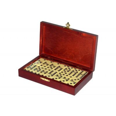 Домино в деревянной шкатулке без флока (6 точек)