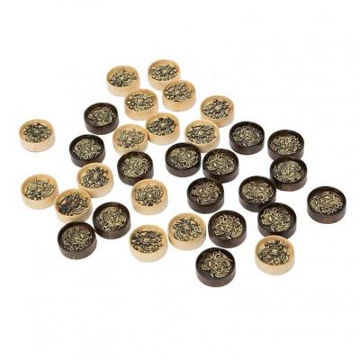 Набор фишек для нард 2 Герба с бронзой 207, Haleyan