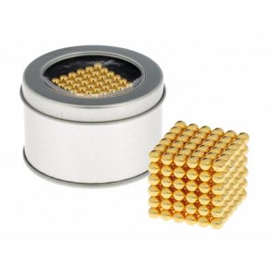 Антистресс магнит Неокуб 216 шариков d=0,5 см (золотой)