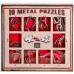 Набор из 10 металлических головоломок (красный)  10 Metal Puzzles red set