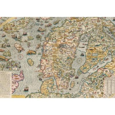 Пазл Carta Marina, 1539 - историческая карта Северной Европы (1000 элементов)