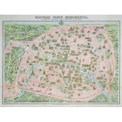 Пазл Карта Парижа 1910 год (1000 элементов)