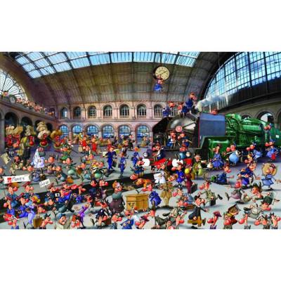 Пазл Железнодорожная станция  Франсуа Руер (1000 элементов)