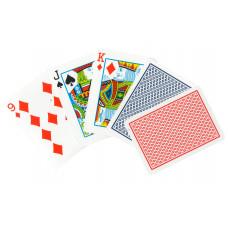 Игральные карты 100% Пластик (красная рубашка) 54 листа