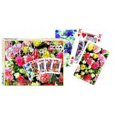 Карточный набор Цветочный рай красные(2х55 листов)