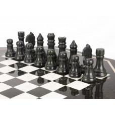 Шахматный стол с каменными фигурами мрамор змеевик 60х60х62 мм