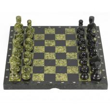 Шахматы камень змеевик доска 40х40 см