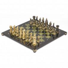 Шахматы Викинги бронза змеевик 400х400 мм