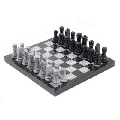 Шахматы мрамор змеевик 38х38 см