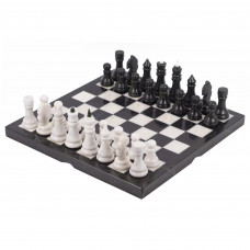 Шахматы мрамор змеевик 40х40 см