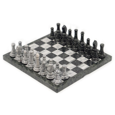 Шахматы мрамор змеевик доска 44х44 см