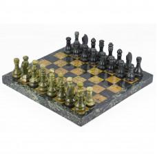 Шахматы офиокальцит змеевик 38х38 см