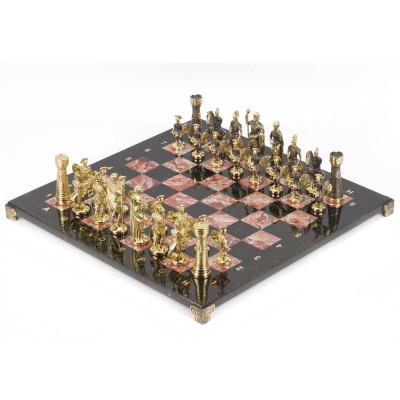 Шахматы Римские бронза креноид 40х40 см