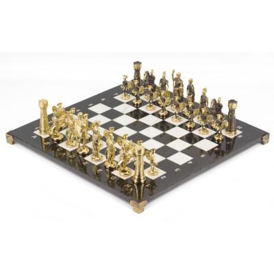Шахматы Римские бронза мрамор 40х40 см