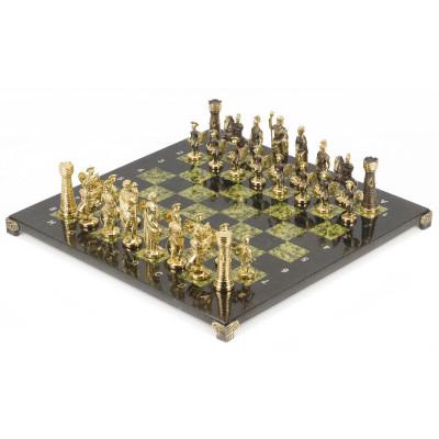 Шахматы Римские бронза змеевик 40х40 см