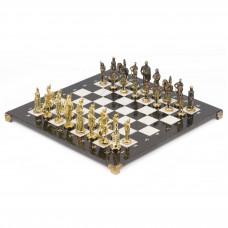 Шахматы Русские бронза мрамор 40х40 см