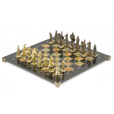 Шахматы Русские бронза офиокальцит 40х40 см