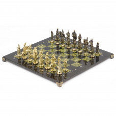 Шахматы Русские бронза змеевик 40х40 см