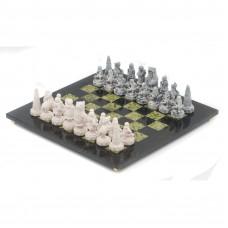Шахматы Северные народы доска змеевик