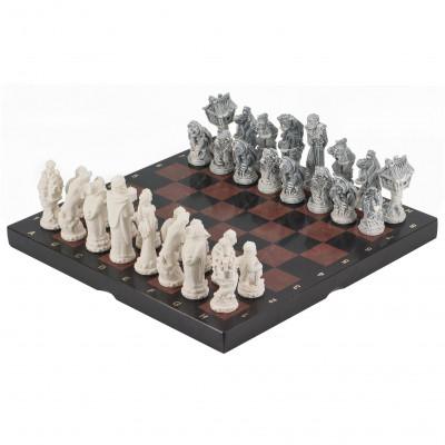 Шахматы Русские сказки лемезит фигуры литьевой мрамор 40х40 см
