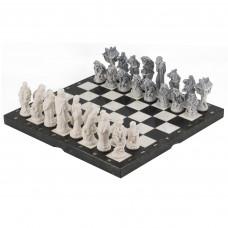Шахматы Русские сказки змеевик фигуры литьевой мрамор 40х40 см