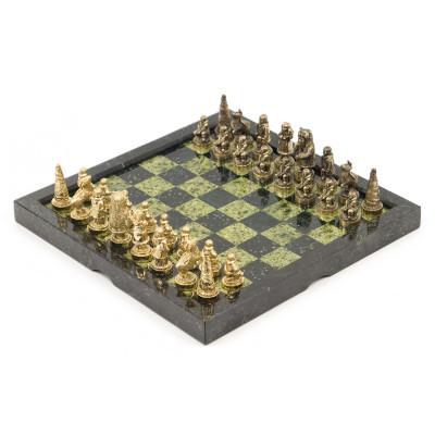 Шахматы Северные народы змеевик бронза