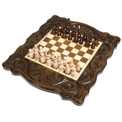 Шахматы + нарды резные Корона 40, Haleyan